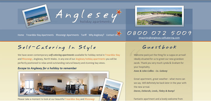 Anglesey Self-Catering Homepage