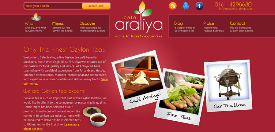 The Cafe Araliya Homepage