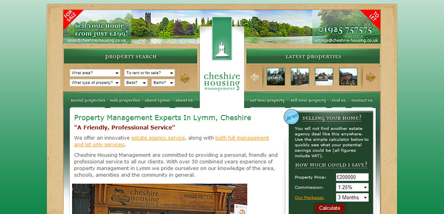 Cheshire Housing Homepage