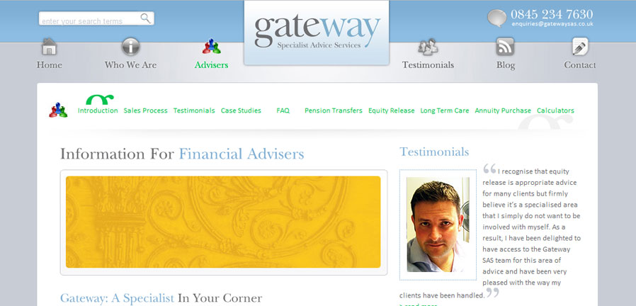 The Advisers page