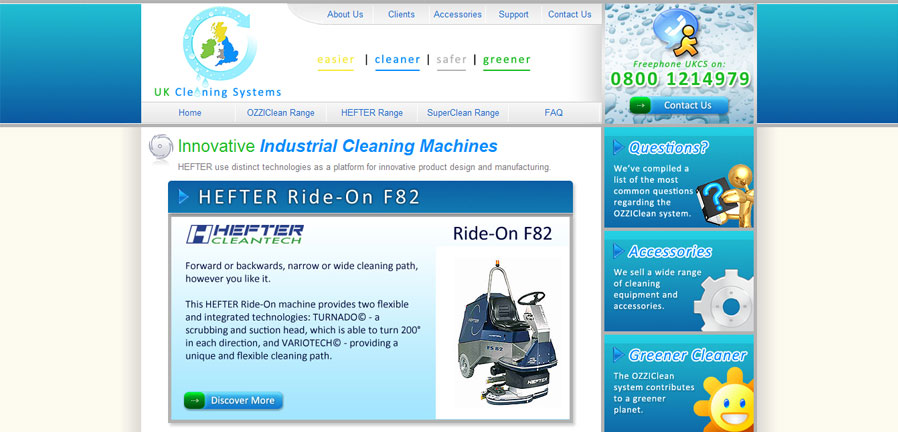 UK Cleaning Systems Homepage