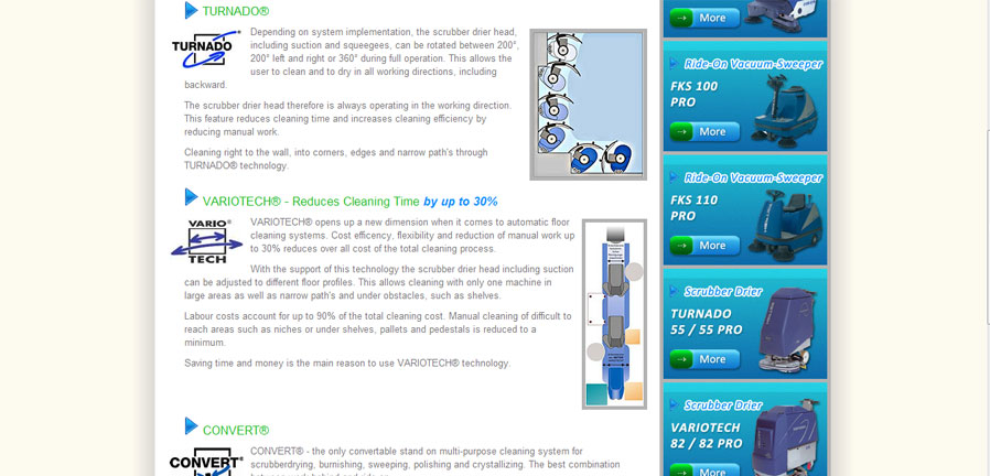 UK Cleaning Systems HEFTER Cleantech section
